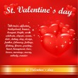 Stock Vector: Valentines day background.