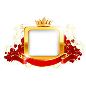 Red frame. Vector — Stock Vector