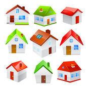 House icon set isolated on white background. Vector — Stock Vector