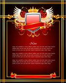 Red ornate frame, Vector — Stock Vector
