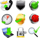 Conjunto de ícones da Web. Vector — Vetor de Stock
