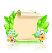 Spring frame. Vector 10 eps — Stock Vector