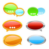 Colorful Speech Talk Bubbles in VECTOR format — Stockvektor