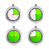 Set of timers. Vector — Stock Vector