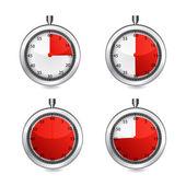 Vector stop watch, realistic illustration. — Stock Vector