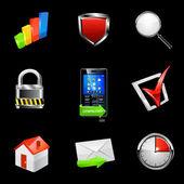 Web icon set. Vector — Stock Vector