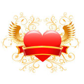 Valentines day heart design. Vector — Vettoriale Stock
