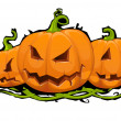 Stock Vector: Halloween Pumpkin.Scary Jack