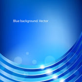 Blue vector abstract background. — Stock Vector
