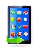 Smartphone editable vector file. Original design. — Stock Vector
