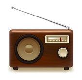 Old retro wooden radio. Vector — Stock Vector