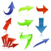 Arrow icon set. Vector — Stock Vector
