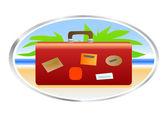 Seyahat çantası — Stok Vektör