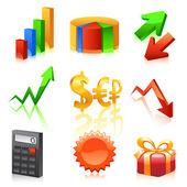 Finanse znaki. wektor — Wektor stockowy