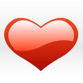 Red love heart. vector — Stock Vector