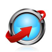 Schnelle lieferung-symbol. vektor — Stockvektor