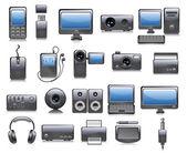 Media icon set. Vector — Stock Vector