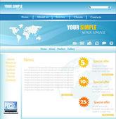 Web site design, vector — Stock Vector