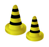 Vector traffic cones — Stock Vector