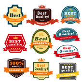 Set of blank badges . — Stockvector