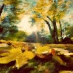 otoño pintura vintage park — Foto de Stock