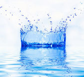 Fresh water splash — Stock Photo