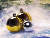 Bolas de navidad. pintura artística vintage. — Foto de Stock