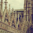 Milan Cathedral, Vittorio Emanuele II Gallery. Italy - Stock Photo