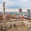 Milan, Italy. View on Royal Palace - Palazzo Realle - Stock Photo