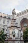 Statue of Leonardo Da Vinci, Milan, Italy — Stock Photo
