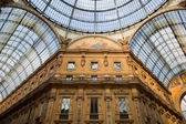 Vittorio Emanuele II Gallery. Milan, Italy — Stock Photo