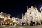 Milan Cathedral, Vittorio Emanuele II Gallery. Italy — Stock Photo