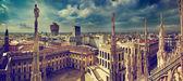 米兰,意大利。查看关于皇家宫-宫 realle — 图库照片