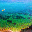 Clear water of the sea, Ibiza, Spain - Stock Photo