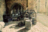 Exposition in the old city of Ibiza, Spain — Stock Photo