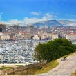 Marseille, France panorama, famous harbour. — Foto Stock