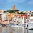 Marseille, France panorama, famous harbour. — Stock Photo