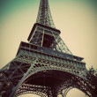 Eiffel Tower in Paris, Fance in retro style. - Stock fotografie