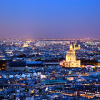 Paris panorama, France at night. — Lizenzfreies Foto