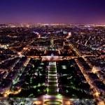 Paris panorama, France at night. — Stock Photo