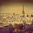Paris panorama, France. Eiffel Tower. Retro — Stock Photo