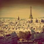 Paris panorama, France. Eiffel Tower. Retro — Stock Photo #14941143