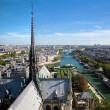 Paris panorama, France. Seine river — Stock Photo