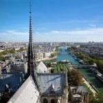 Paris panorama, France. Seine river — Stock Photo