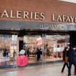 Stock Photo: Entrance to Lafayette shopping center, Paris