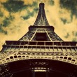 Eiffel Tower in Paris, Fance in retro style. — Stock Photo