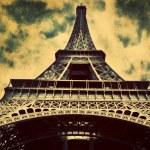 Eiffel Tower in Paris, Fance in retro style. — Stock Photo