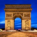 Arc de Triomphe at night, Paris, France. — Stock Photo #14941263