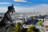 Paris panorama, France. Eiffel Tower, Seine river — Stock Photo