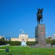 Zagreb, Croatia. Kralj Tomislav statue — Stock Photo #15419225